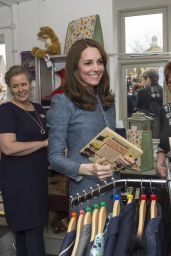 Kate Middleton - Opens New EACH Charity Shop in Holt, UK 3/18/2016