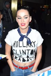 Katy Perry Shows Support for Hillary Clinton at Radio City Music Hall in NYC 3/2/2016