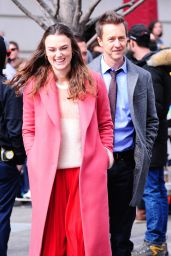 Keira Knightley and Edward Norton Bond on the Set of