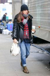 Keira Knightley on the Set for