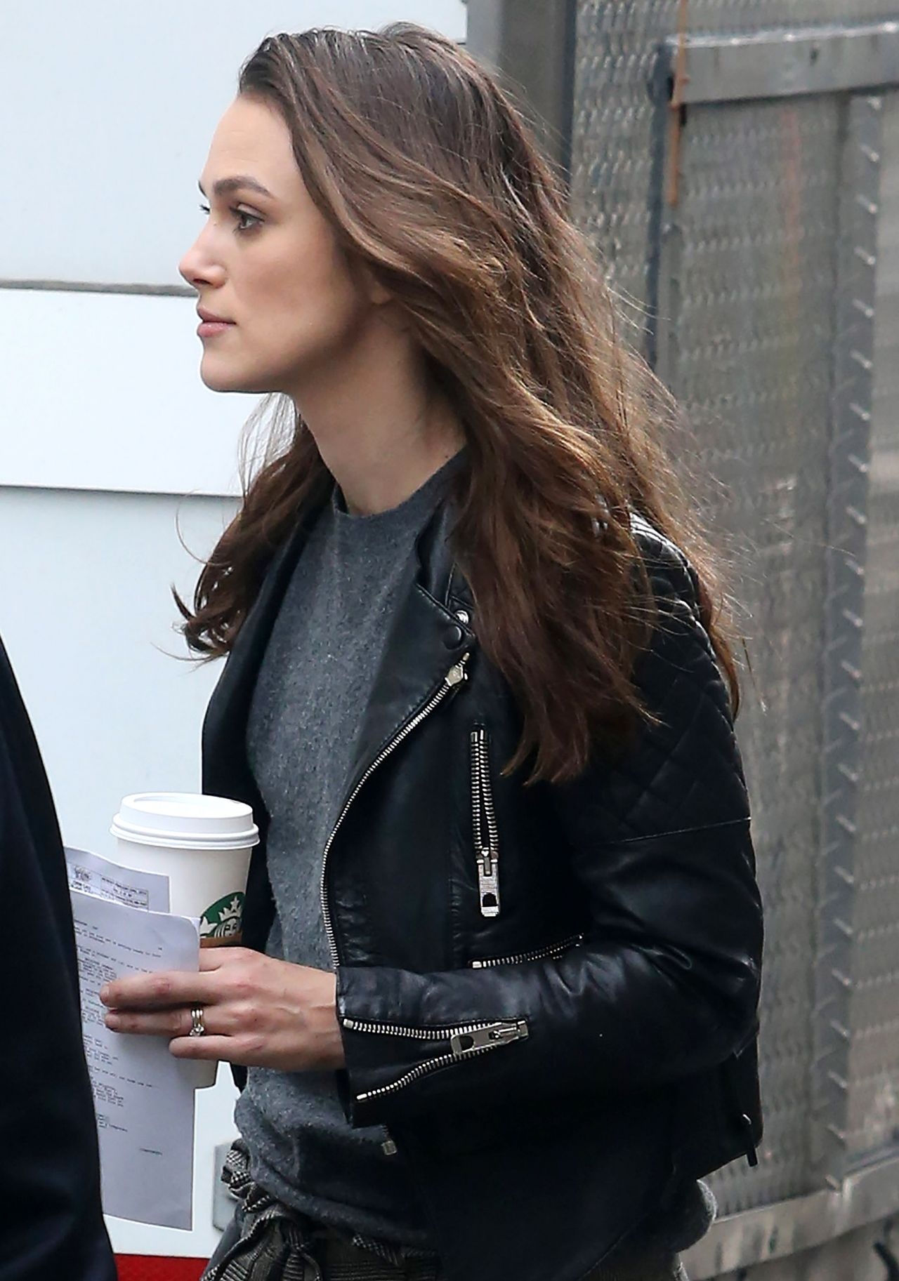 Keira Knightley On The Set Of Collateral Beauty In New