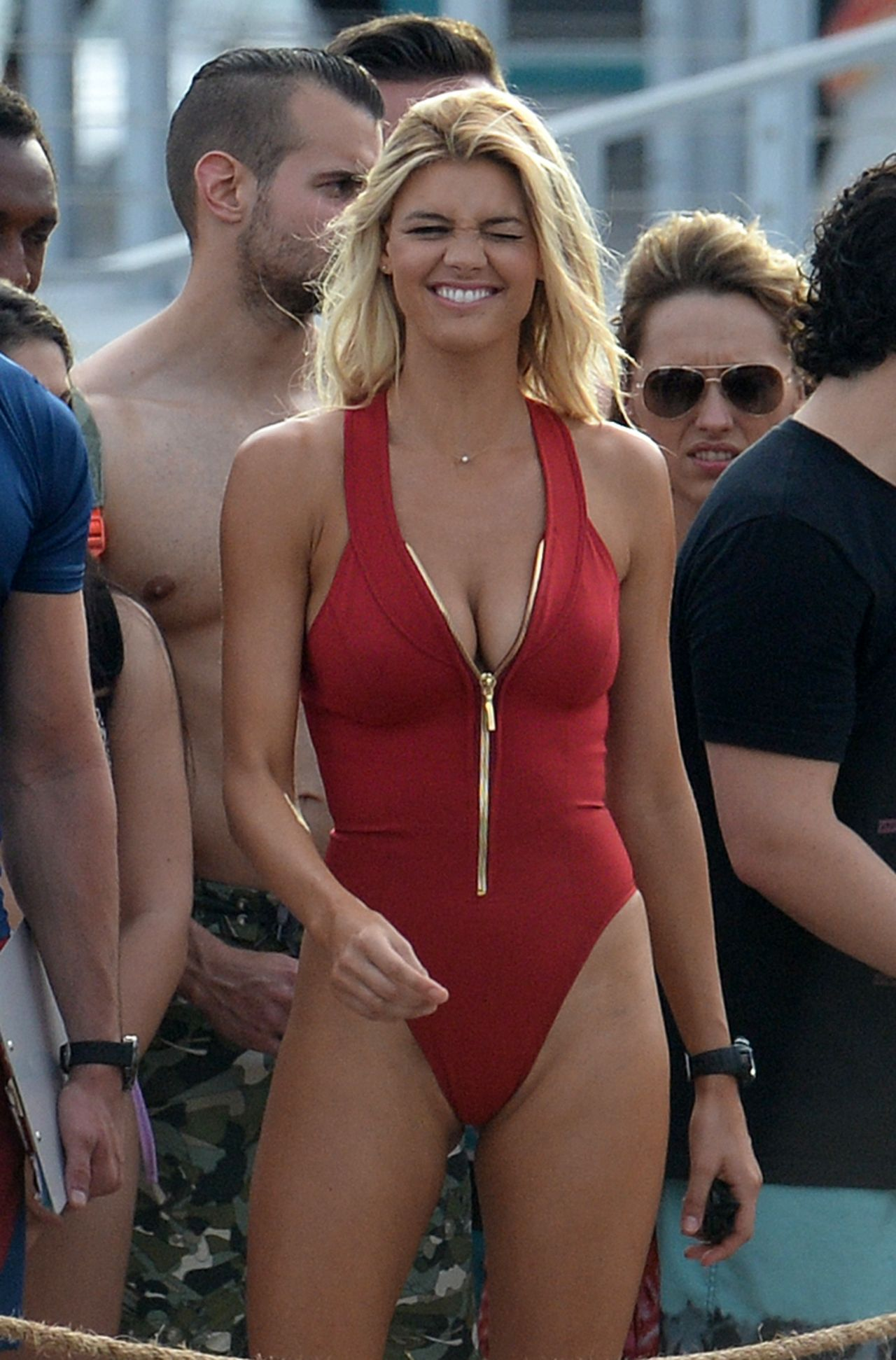 Kelly Rohrbach in Swimsuit on the Set of 'Baywatch' in ...