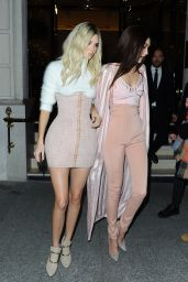 Kendall Jenner and Gigi Hadid - Heading to the Balmain After Party in Paris, March 2016