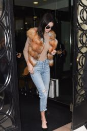 Kendall Jenner at the Chanel Store in Paris 3/7/2016