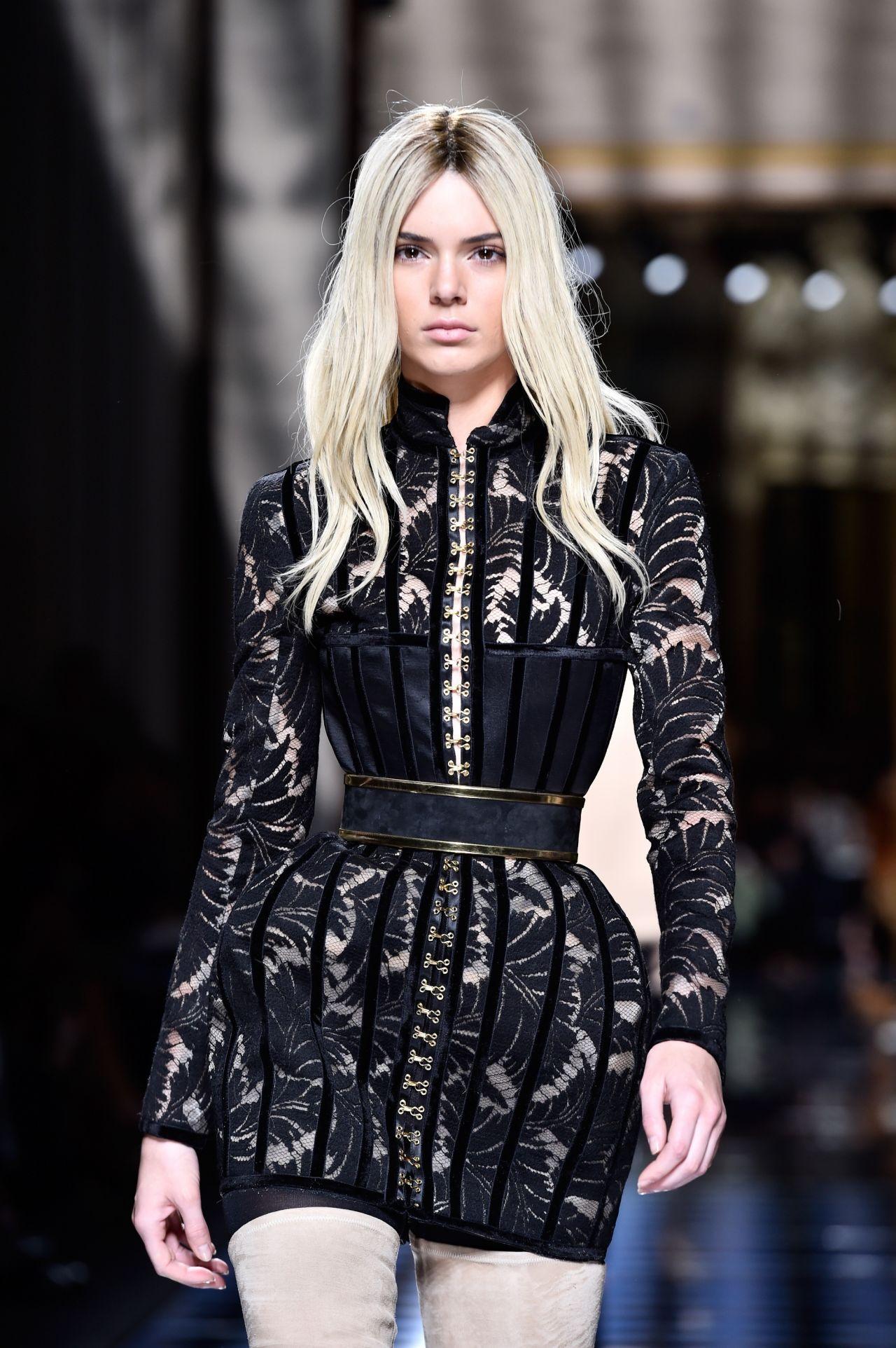 Kendall Jenner Balmain Fashion Show Paris Fashion Week 3 3 2016