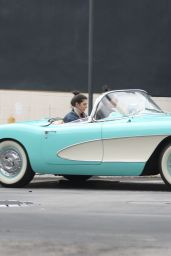 Kendall Jenner Driving Oldtimer in Beverly Hills 3/13/2016