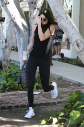 Kendall Jenner in Tights at the Alfred Coffee in Beverly Hills 3/15/2016