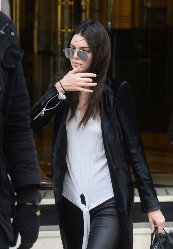 Kendall Jenner - Leaving Her Hotel in Paris 3/5/2016