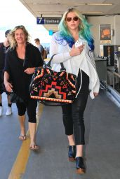 Kesha at LAX Airport in Los Angeles 3/19/2016