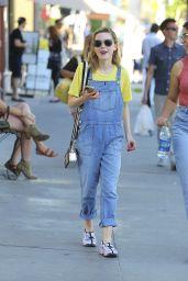 Kiernan Shipka Street Style - Shopping in Los Angeles 3/25/2016
