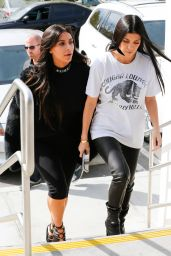 Kim and Kourtney Kardashian have a sisters day in Calabasas 3/9/2016