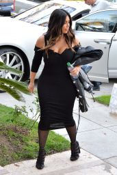 Kim Kardashian - Arriving at a Photoshoot in Beverly Hills 3/17/2016