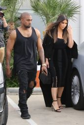 Kim Kardashian - Support Khloe at the Studio in Van Nuys 3/28/2016