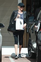 Kimberly Stewart in Leggings - Out in Studio City 3/7/2016