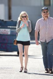 Kirsten Dunst is Spotted Smoking in Studio City, March 2016