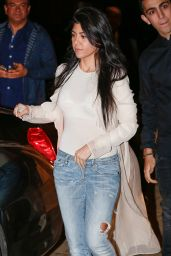 Kourtney Kardashian at Nobu in Malibu, March 2016