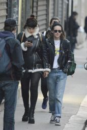 Kristen Stewart Street Style - Out in Paris, France 3/14/2016