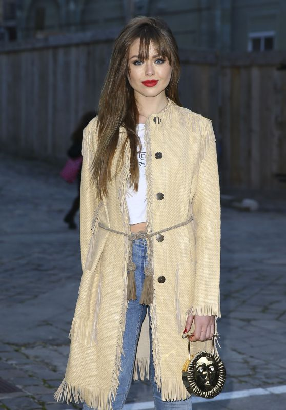 Kristina Bazan at Sonia Rykiel Fashion Show in Paris 3/7/2016
