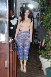 Kylie Jenner Night Out Style - Outside Il Cielo in Beverly Hills, March 2016