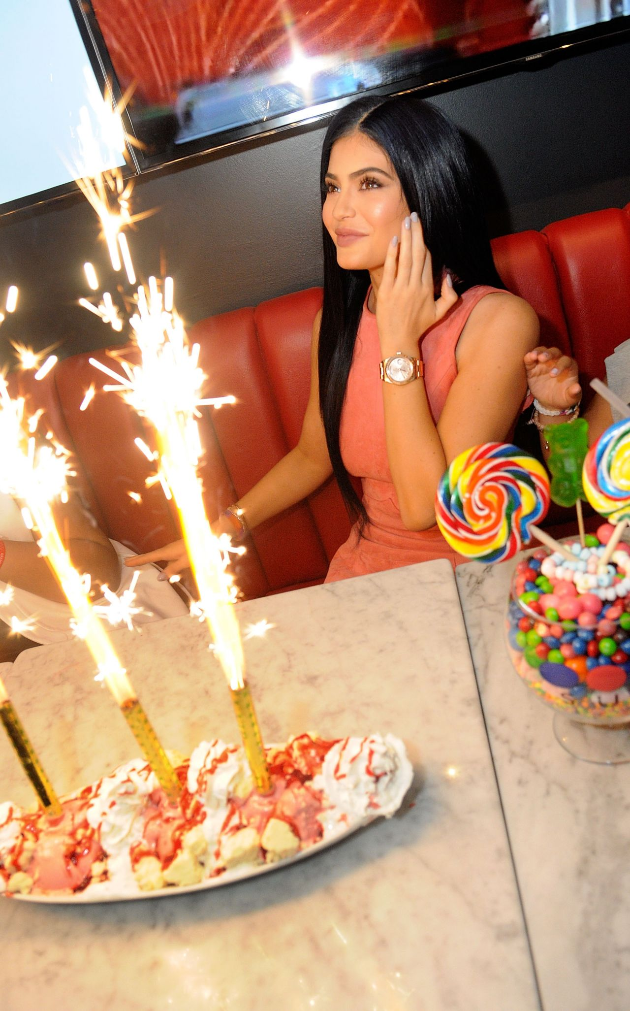 Kylie Jenner Opening Of The Sugar Factory In Orlando Fl