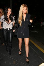 Kylie Jenner Shows Off Her Legs in Black Mini Dress - Out in West Hollywood, March 2016