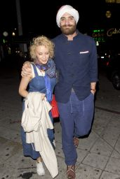Kylie Minogue at Lady Gaga's 30th Birthday Party in Hollywood