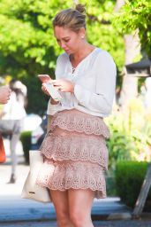 Kym Johnson in Pink - Shopping in Beverly Hills 3/18/2016