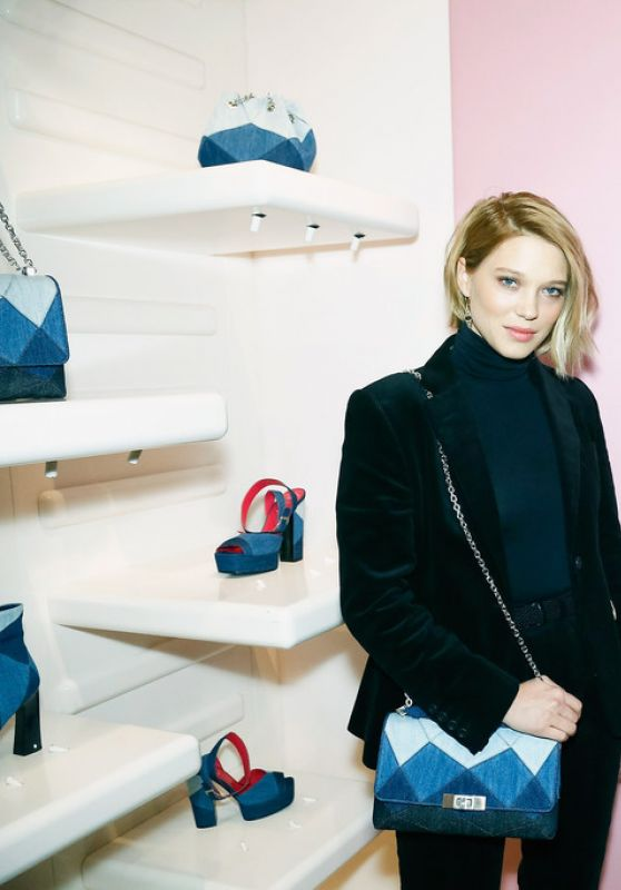 Léa Seydoux - Roger Vivier Prismick Denim Party in Paris, France 3/7/2016