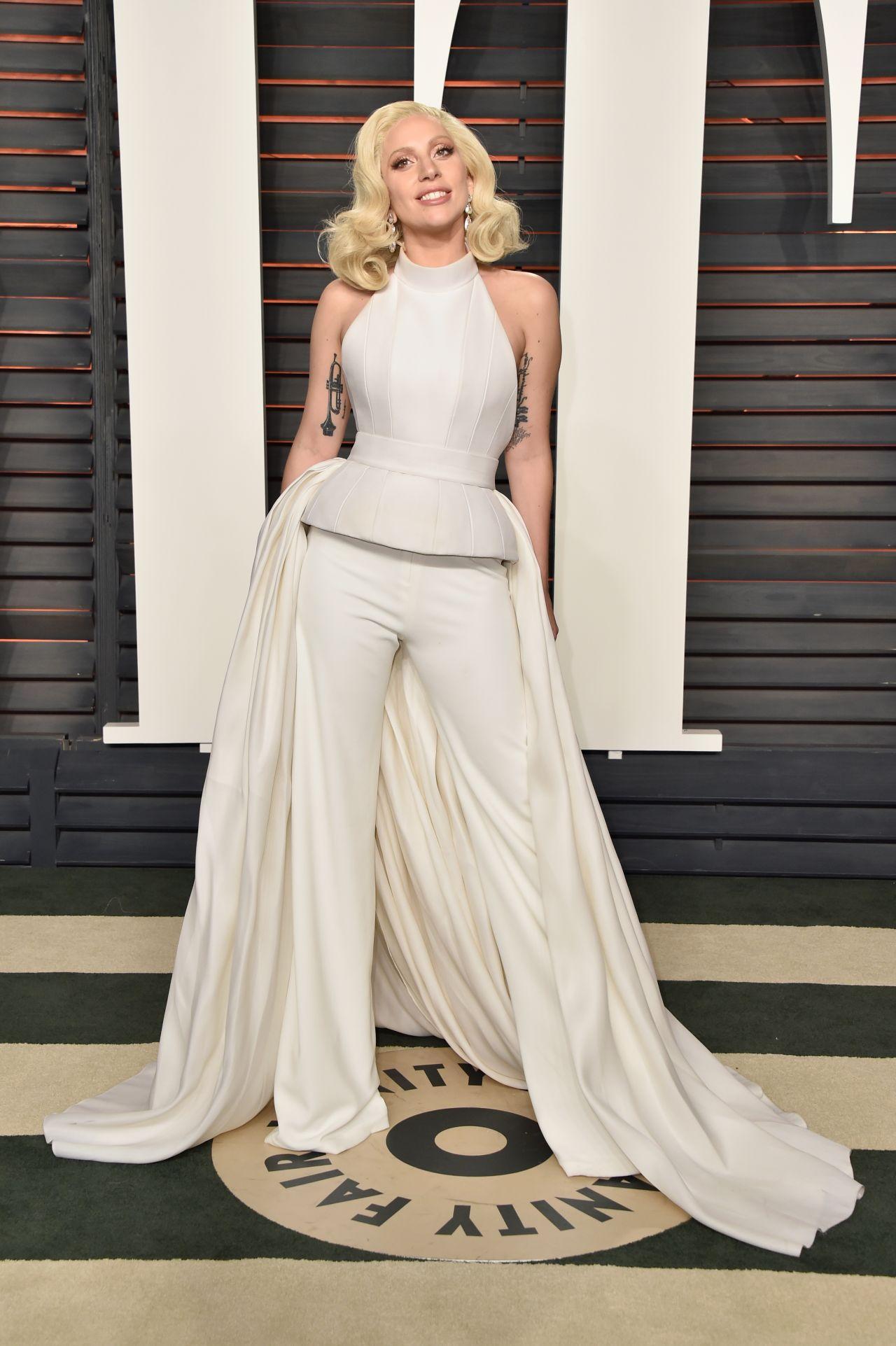 Lady Gaga 2016 Vanity Fair Oscar Party In Beverly Hills Ca Celebmafia