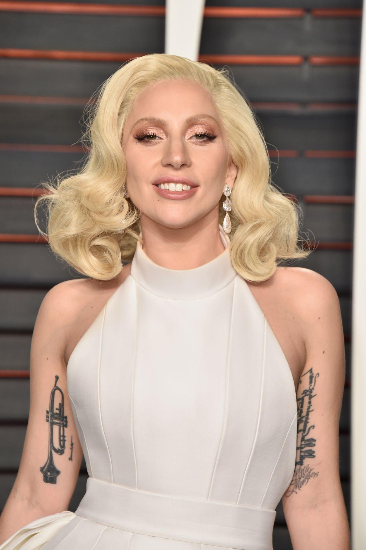 Lady Gaga 2016 Vanity Fair Oscar Party In Beverly Hills Ca