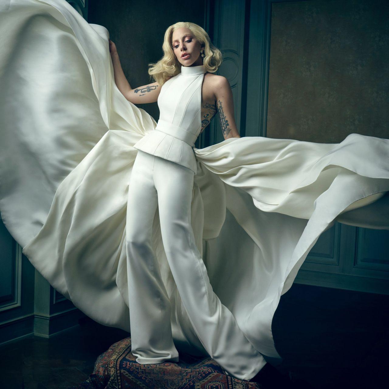 Lady Gaga 2016 Vanity Fair Oscar Party Portrait Celebmafia