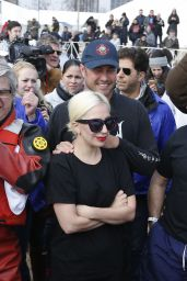 Lady Gaga - Takes the Polar Plunge in the Lake Michigan in Chicago, Illinois 3/6/2016