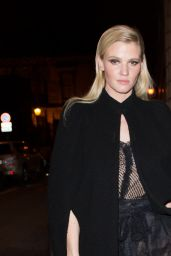 Lara Stone Arriving at the Grand Colbert Restaurant in Paris 3/7/2016