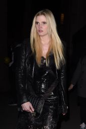 Lara Stone Leaving the Givenchy Show - Paris Fashion Week, March 2016