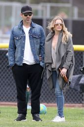 Leann Rimes at a Soccer Game in Los Angeles 3/14/2016