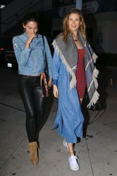 Lily Aldridge and Behati Prinsloo Street Style - West Hollywood 3/30/2016