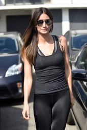 Lily Aldridge in Tights - Leaving the Salon After a Pampering Session in LA, March 2016