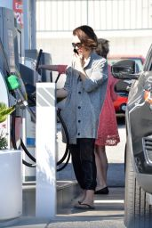 Lily Collins at a Gas Station in Los Angeles 3/8/2016