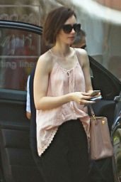 Lily Collins at Peninsula Hotel in Beverly Hills, March 2016