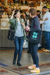 Lily Collins Street Style - Shopping at Erewhon Health Food Store in LA 3/15/2016