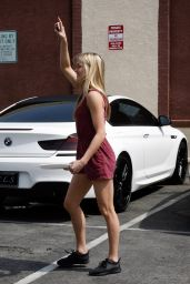 Lindsay Arnold - DWTS Rehearsals in Hollywood 3/19/2016