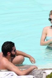 Lucy Hale in a Bikini at Her Hotel Pool in Brazil, March 2016