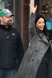 Lucy Liu - On Set of
