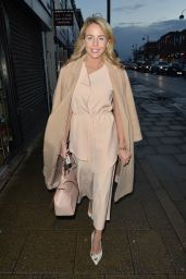 Lydia Bright Leaving Her Boutique Bella Sorella in Loughton, Essex, March 2016