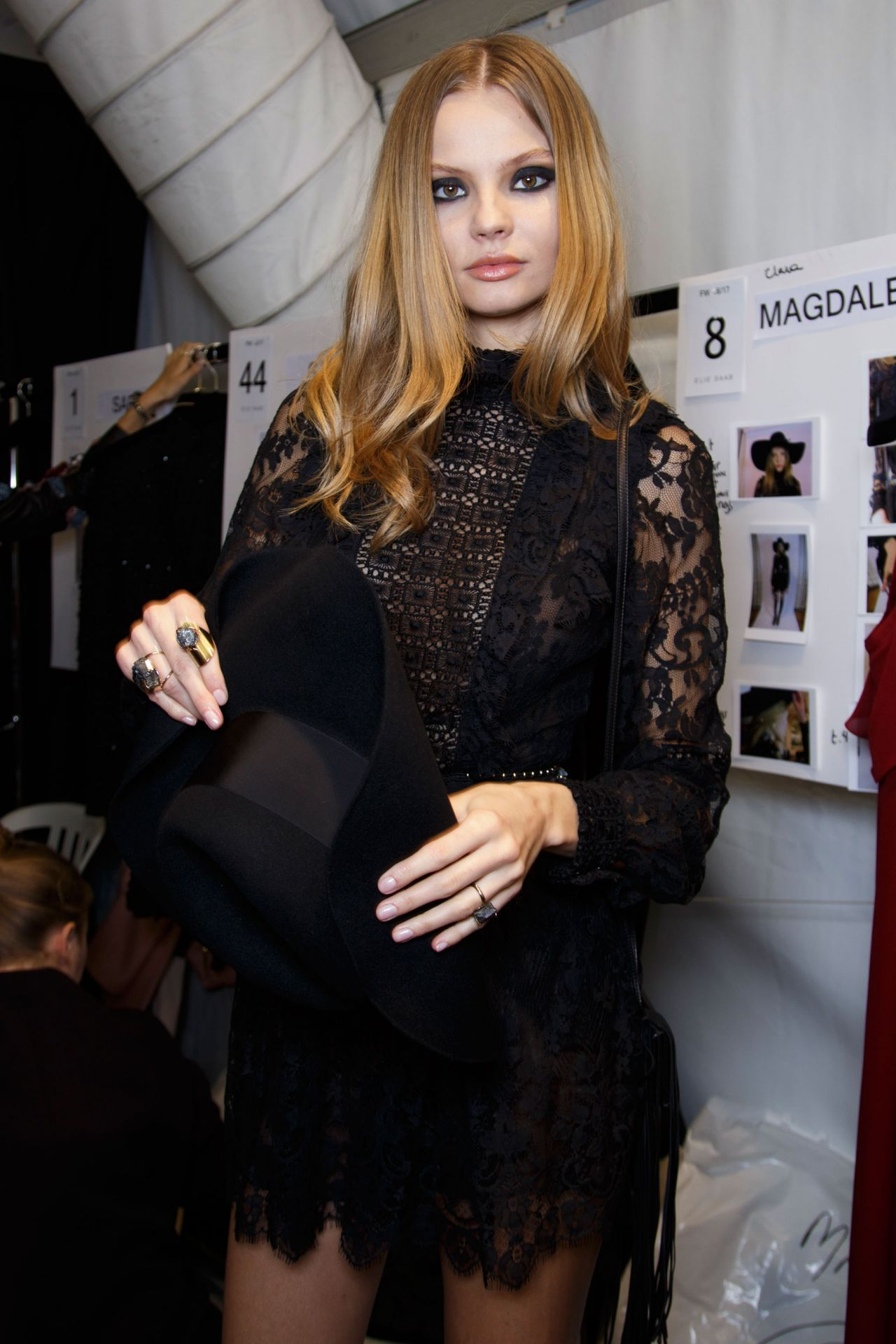 0583f5b1dca Magdalena Frackowiak - Elie Saab Show at Paris Fashion Week