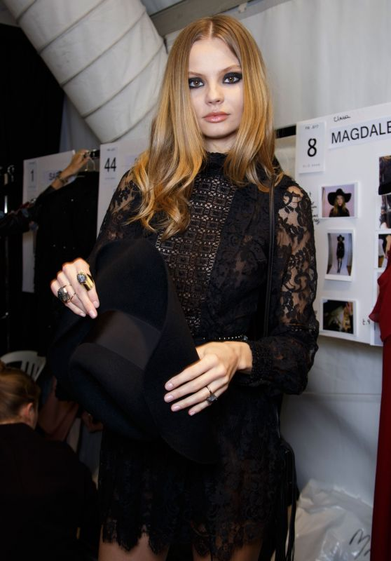 Magdalena Frackowiak - Elie Saab Show at Paris Fashion Week, March 2016