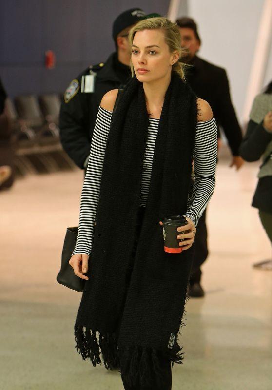 Margot Robbie at JFK Airport in New York City, NY 3/2/2016