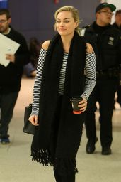 Margot Robbie at JFK Airport in New York City, NY 3/2/2016