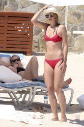 Maria Sharapova in Red Bikini in Cabo San Lucas, Mexico 3/26/2016