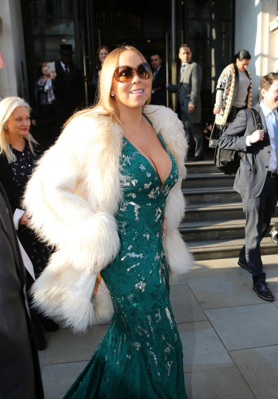 Mariah Carey - Leaving Her Hotel in London 3/17/2016